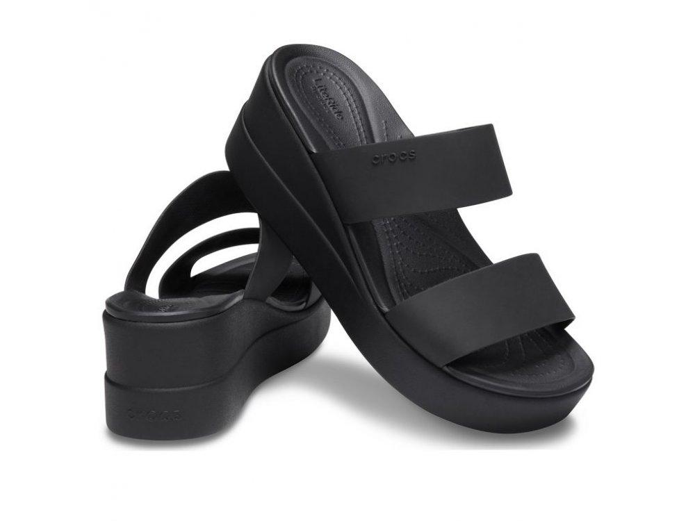 Γυνακεία Σανδάλια Crocs Brooklyn Mid Wedge W Black/black