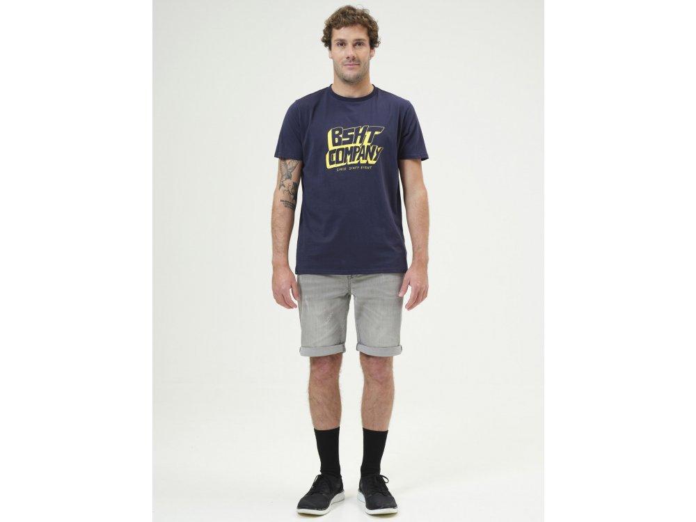 Basehit Men's S/S T-shirt Navy Blue