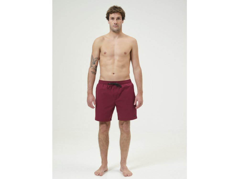 Basehit Men's Volley Packable Shorts Dusty Berry