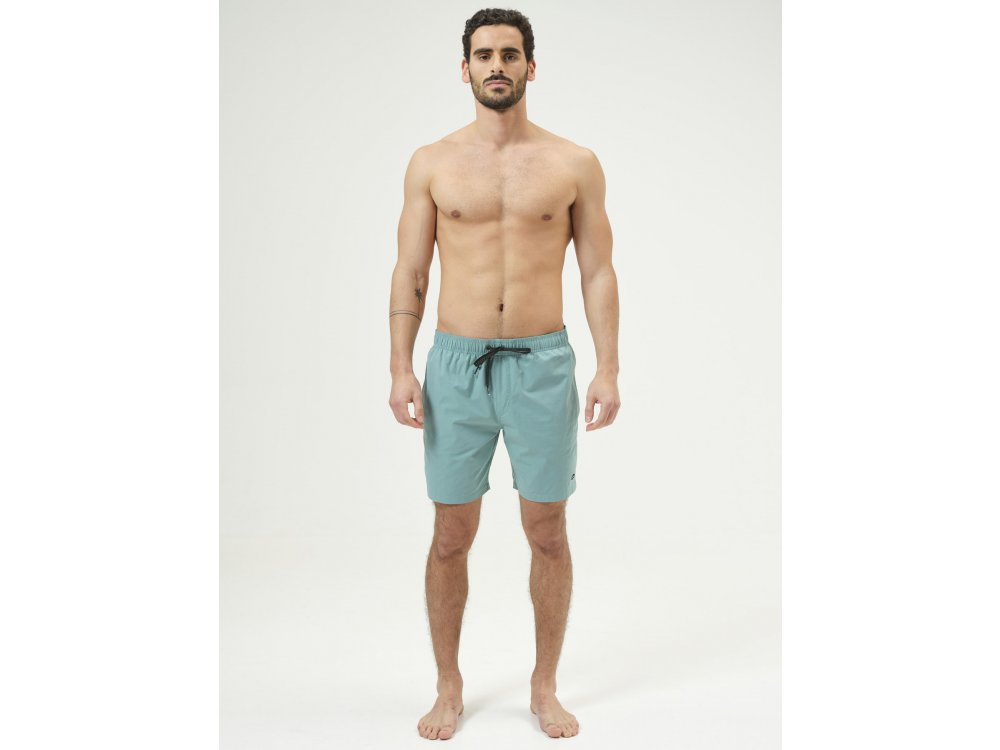Basehit Men's Volley Packable Shorts Pale Green