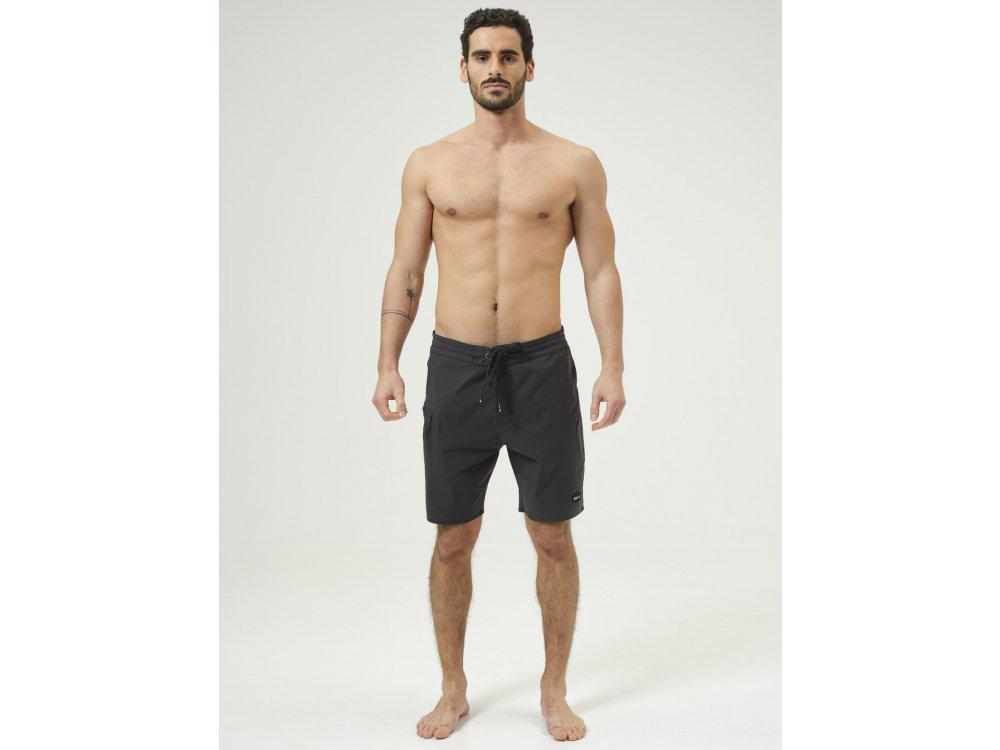 Basehit Men's Packable Board Shorts Ebony