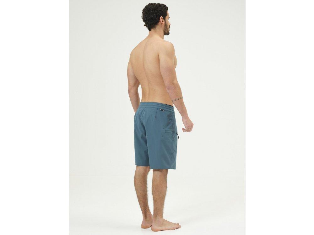 Basehit Men's Packable Board Shorts Green