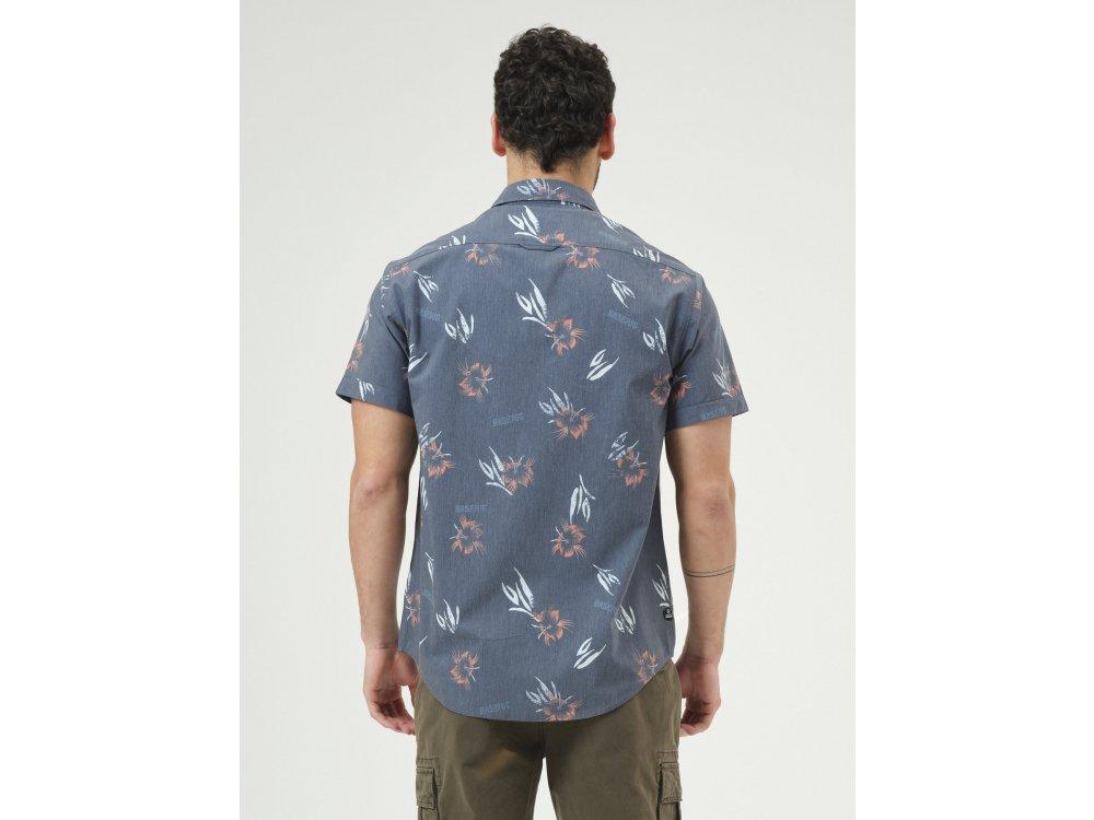 Basehit Men's s/s Shirt Off Black