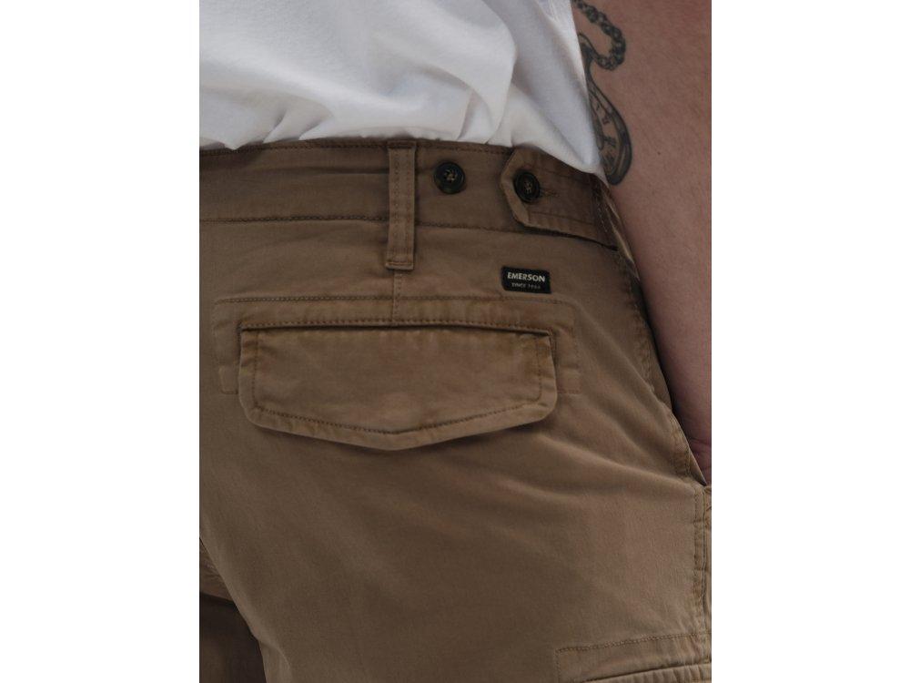 Emerson Men's Stretch Cargo Short Pants Beige