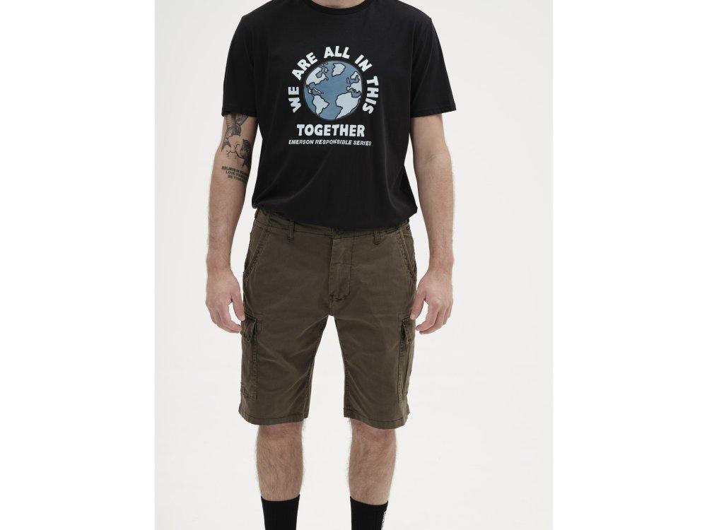 Emerson Men's Stretch Cargo Short Pants Olive