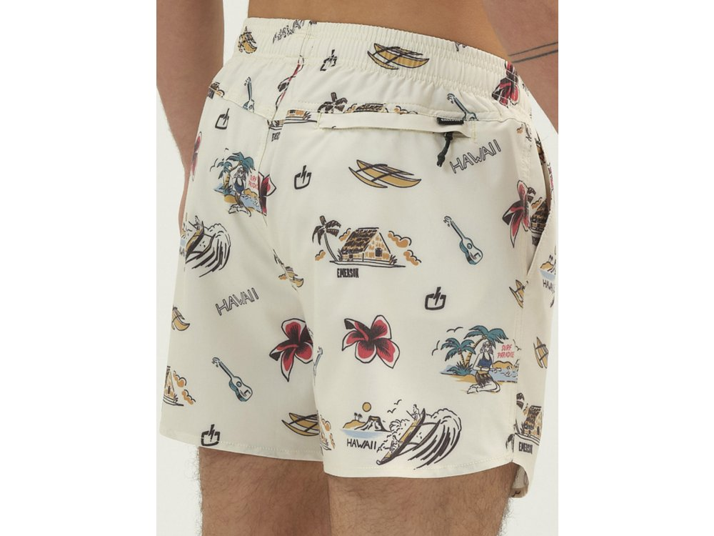 Emerson Men's Printed Volley Shorts Pale Yellow