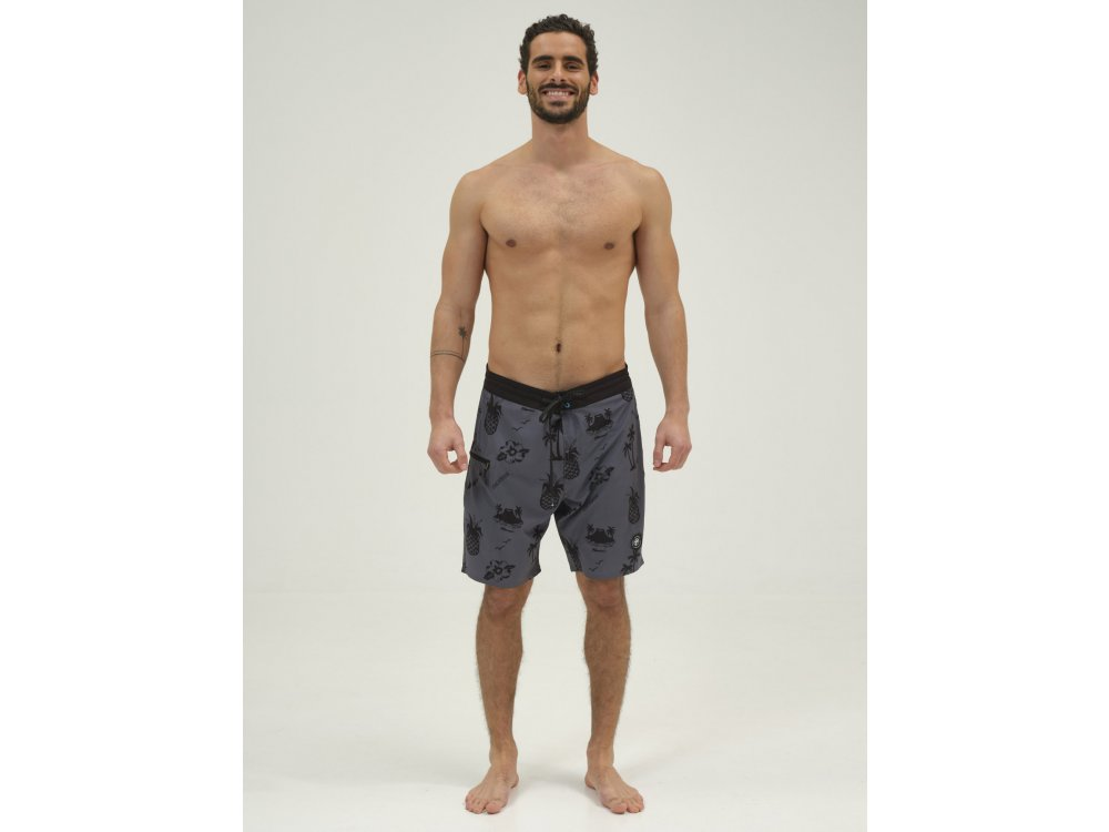 Emerson Men's Packable Board Shorts PR227 Ebony