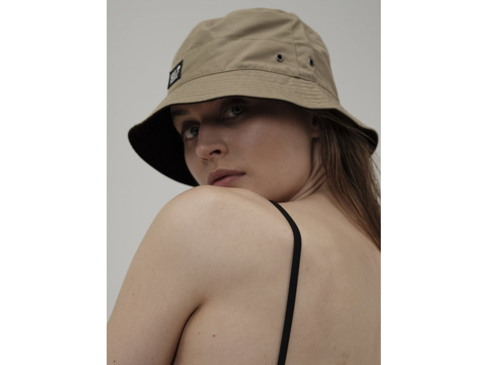Emerson Unisex Bucket Hat Beige-Black