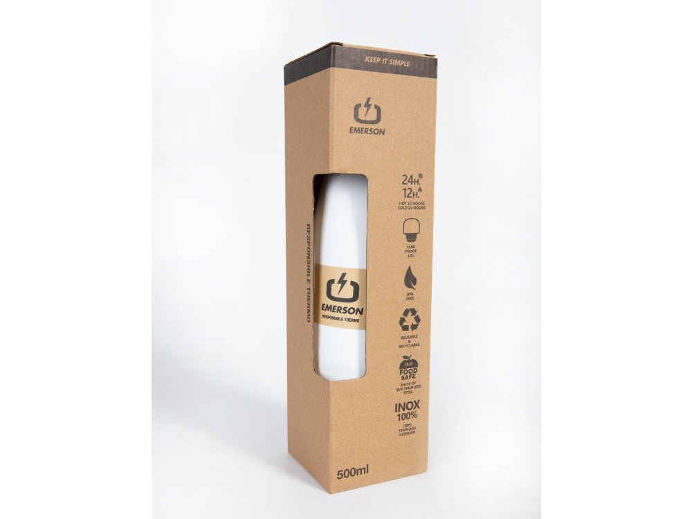 Emerson Double Wall Vacuum Bottle(500ml) White
