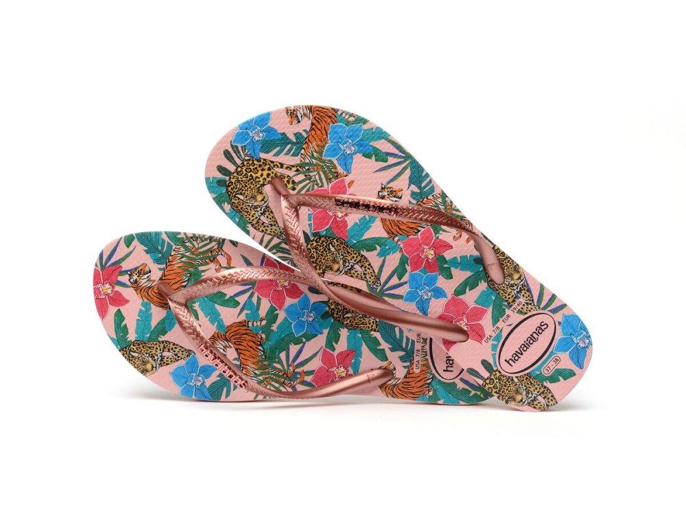 Σαγιονάρες Havaianas Slim Tropical Ballet Rose
