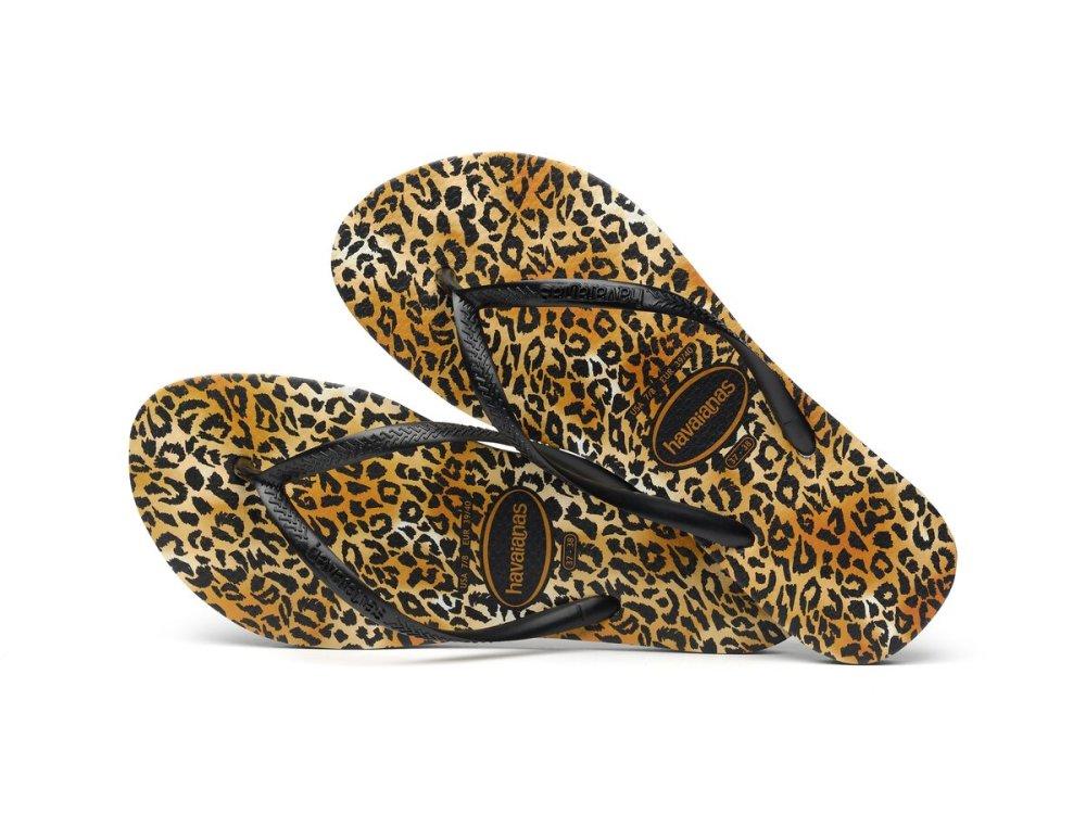Σαγιονάρες Havaianas Slim Leopard Black/Black