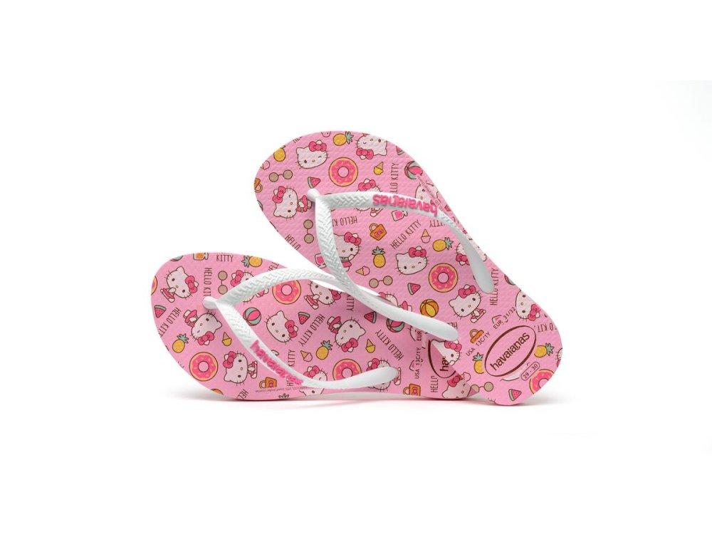 Παιδικές Σαγιονάρες Havaianas Kids Slim Hello Kitty Macaron Pink