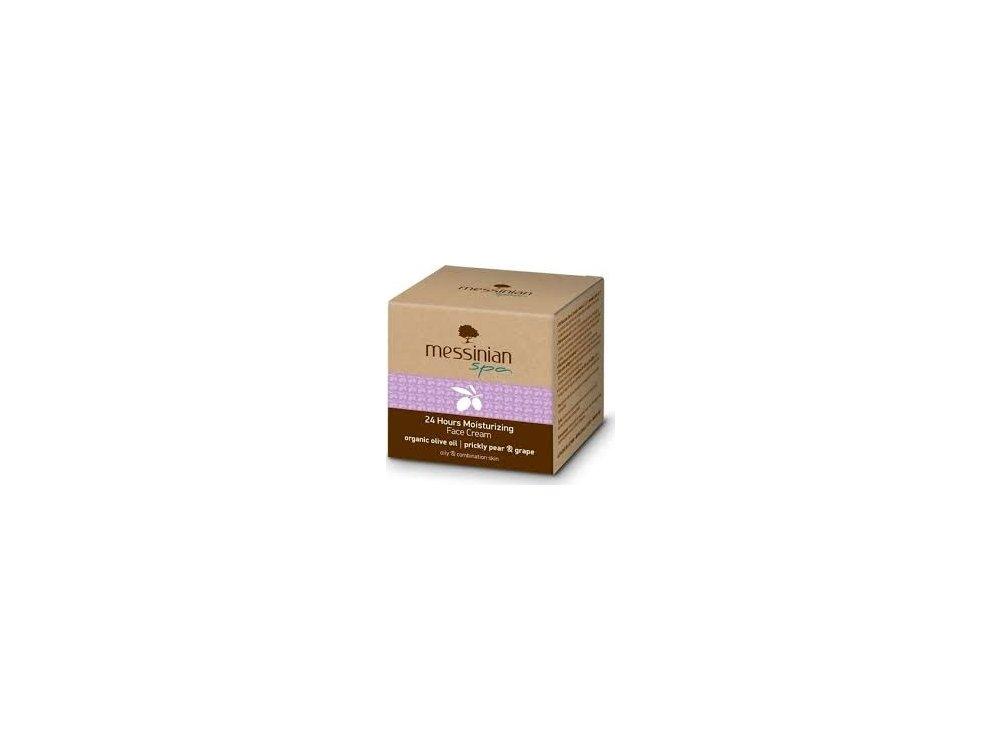 Messinian Spa 24Hours Moistrurizing Face Cream 50ml Organic Oil Prickly Pear&Grape