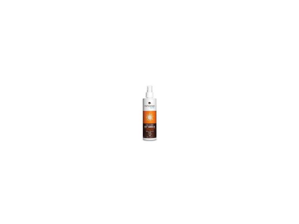 Messinian Spa Face & Body Deep Tanning Oil Walnut&Carrot 250ml 15spf