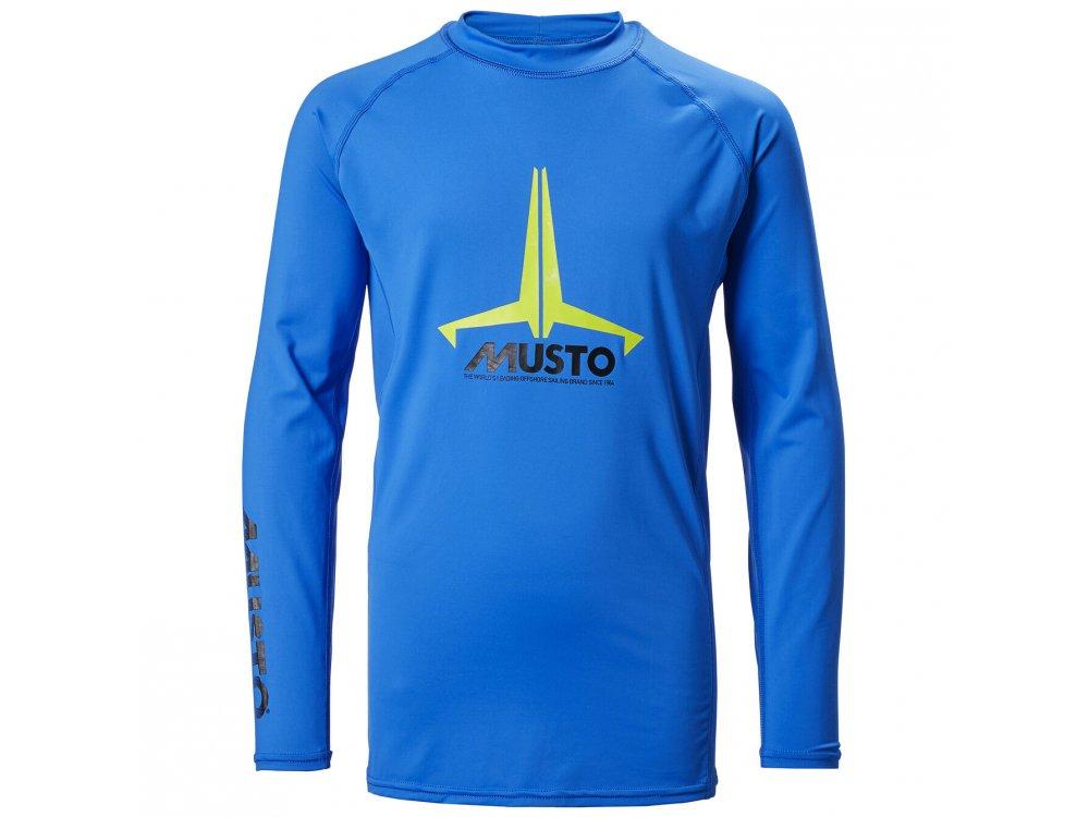 Musto Youth Isignia UV FD LS Tee 560 Brilliant Blue