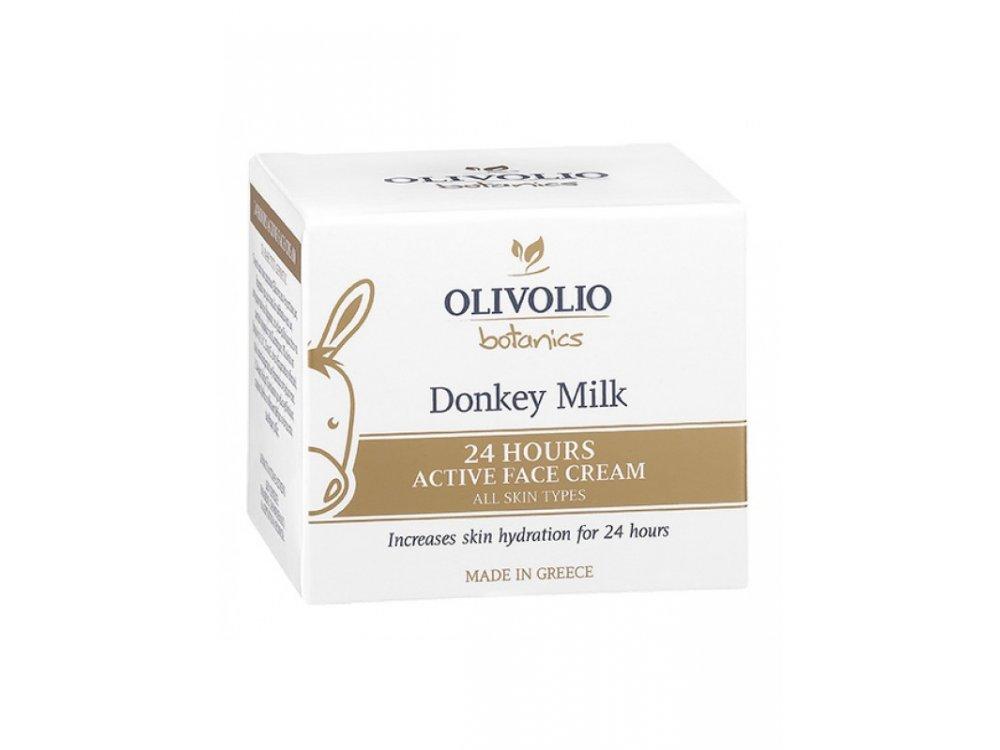 Olivolio Donkey Milk 24 Hours Active Face Cream 50mL