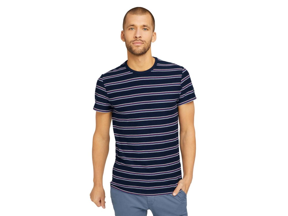 Tom Tailor T-Shirt Stripped Pique T Ανδρικό 10302