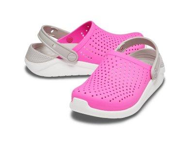 Σανδάλια Crocs Lite Ride Clog K Pink White