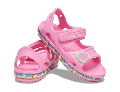 Σανδάλια Crocs Fun Lab Rainbow Sandal  K  Pink Lemonade